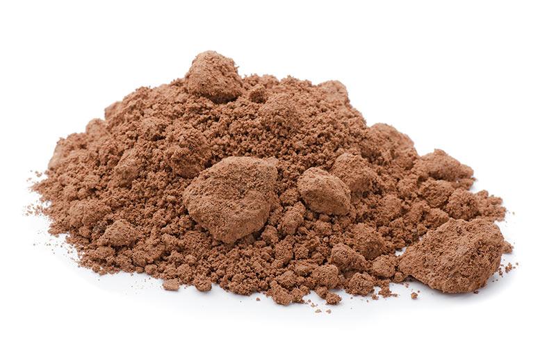 raw clay powder