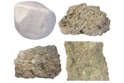 collection of raw limestone